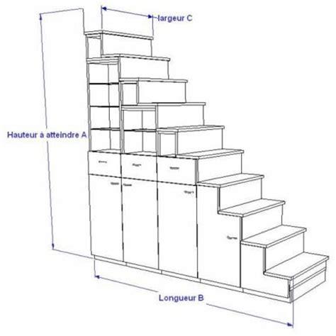 escalier rangement pour mezzanine meuble escalier pour mezzanine avec rangements sur mesure escalier mezzanine