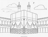 Coloring Pages Mosque Kabah Islamic Religious Colouring Ramadan Al sketch template