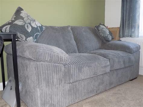 Grey Corduroy Sofa by Grey Corduroy Sofa Bed In Basildon Essex Gumtree