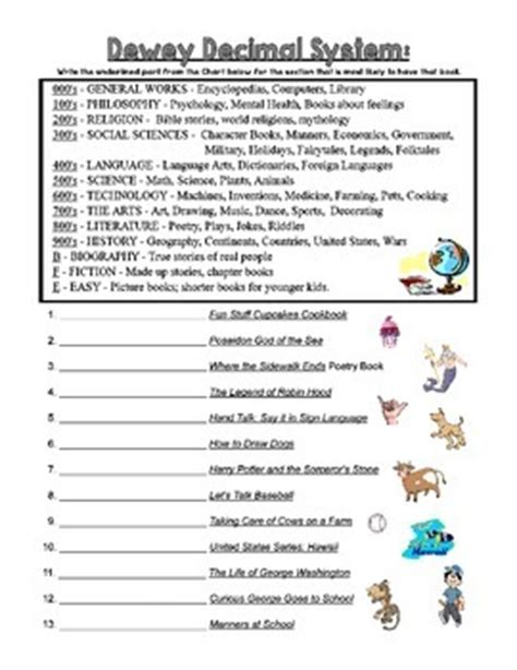 dewey decimal worksheets for 2nd grade dewey decimal practice sheets by becky tpt