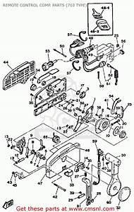 Yamaha 115etj 1986 Remote Control Comp  Parts  703 Type