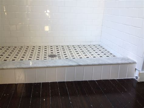 Stone Shower Surround by Creative Carpeting Projects