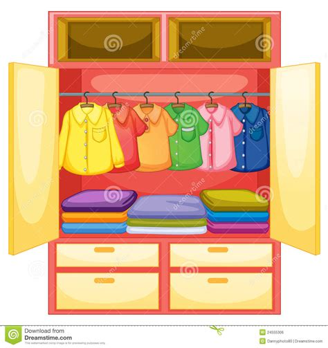 Black Dresser Pink Drawers by Empty Wardrobe Stock Vector Image Of Cloth House Ironed