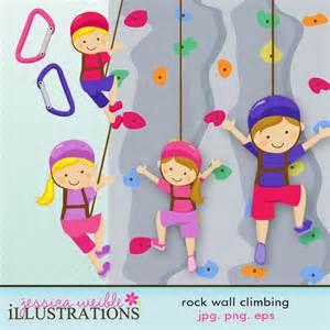 Kids Rock Climbing Clip Art