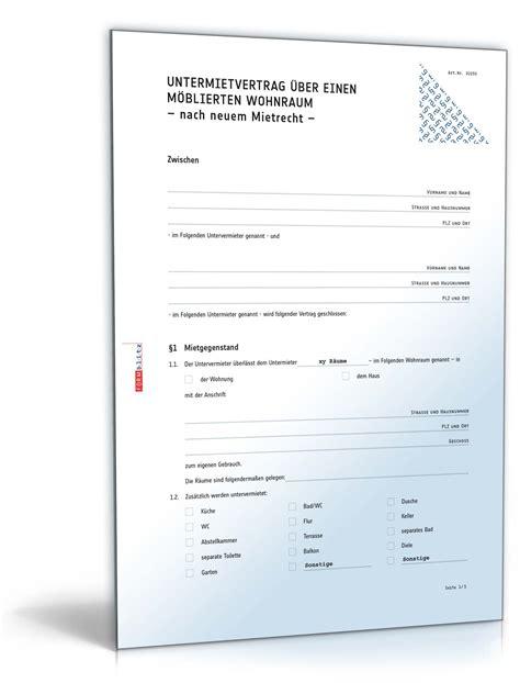 untermietvertrag vorlage pdf untermietvertrag m 246 blierte wohnung muster zum