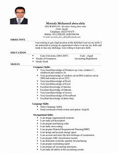 Computer Skills On Resume Example Cv Word Knowledge
