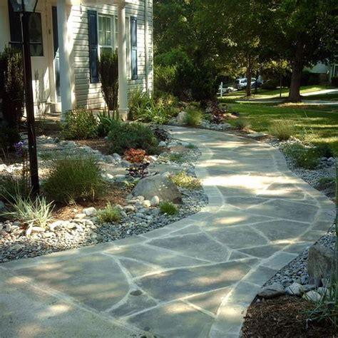 hardscape walkway flagstone style gardening