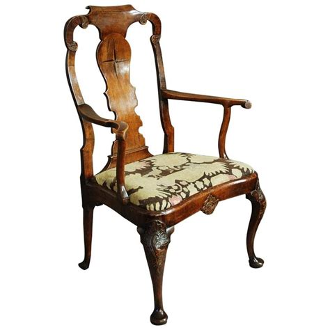 pair of upholstered inlaid mahogany wing late 19th century walnut and beech armchair in the