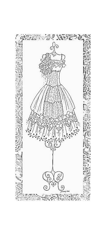 Coloring Dresses Adult Tamponnade Paper Malvorlagen Ausmalbilder