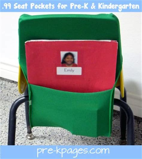 chair pockets for preschool and kindergarten chairs i
