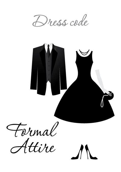 wedding invitation formal dress code newpapersco