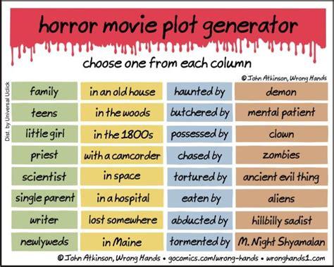 horror  plot generator  terrifyingly entertaining