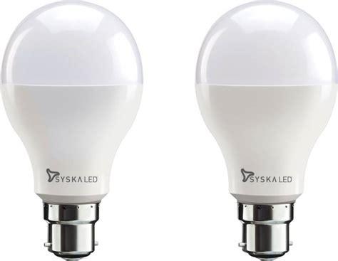 cost of led light bulbs syska led lights 18 w b22 led bulb price in india buy