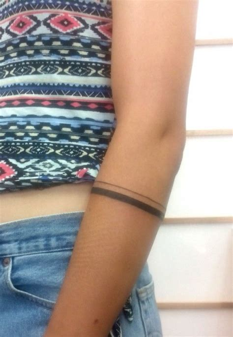beautiful forearm band tattoos ideas  pinterest
