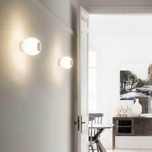 Appliques Murales Salle De Bain : applique de salle de bain moy blanc or ip44 led 3000k 200 lm 13cm h13cm faro ~ Melissatoandfro.com Idées de Décoration