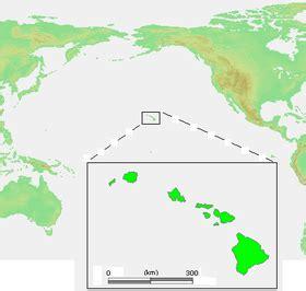 하와이 주의 위치