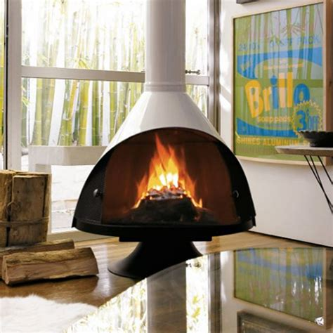 free standing wood burning fireplace sleek freestanding fireplaces designed by malm