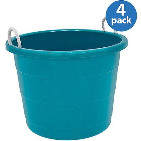 tubs at walmart homz kidz 10 gal tub turquoise set of 4 walmart