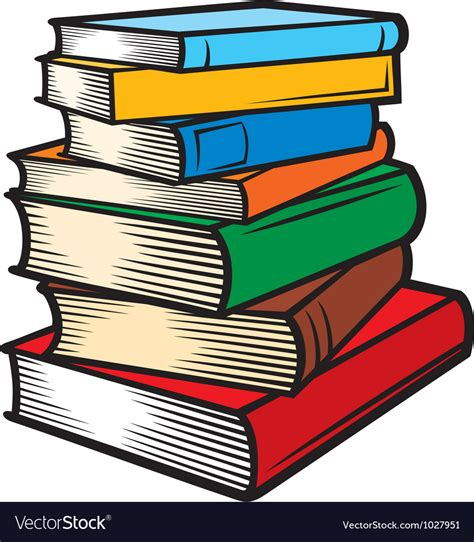 libri clipart stack of books royalty free vector image vectorstock