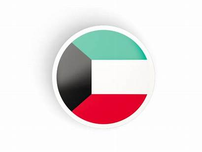 Kuwait Round Flag Icon Concave Commercial Non