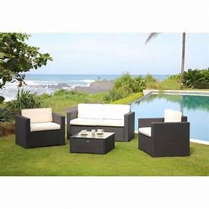 Beautiful Bali Salon De Jardin Resine Tressee Acier Gris