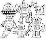 Robot Coloring Pages Printable Detailed Preschool sketch template