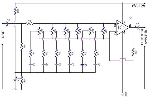 Band Graphic Equaliser Circuit Using Amp Koleksi