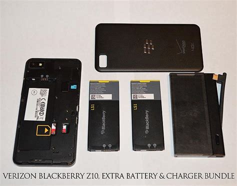 verizon blackberry  extra cases battery charging