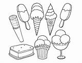Ice Cream Coloring Printable Sandwich Mewarnai Sorvete Colorir Desenhos Boyama Gambar Dondurma Colouring Stand Gidalar Ucretsiz Ekim Template Coloringpagebase Pt sketch template