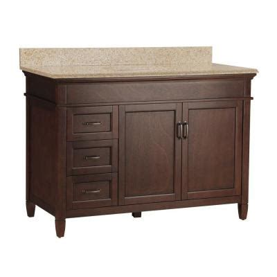 home depot foremost bathroom vanities foremost ashburn 49 in w x 22 in d vanity in mahogany