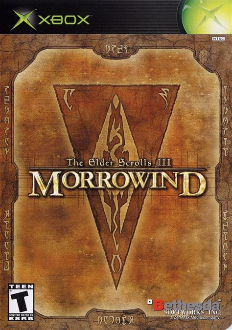 The Elder Scrolls Iii Morrowind 2002 Xbox Box Cover Art