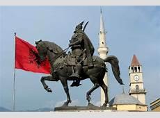 Skanderbeg's statue Tirana, Albania's capital Albania