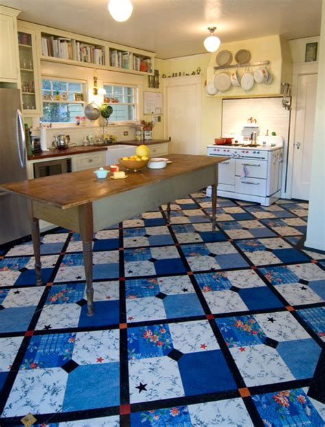 linoleum flooring los angeles reclaimed 40 s linoleum inlay floor traditional kitchen los angeles by crogan inlay floors