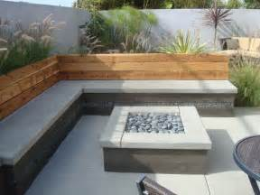 Outdoor Cement Bench by Nathan Smith Landscape Design Modern Patio San Diego