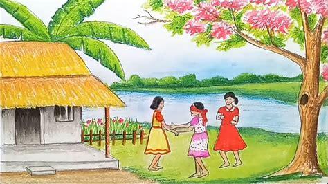 draw scenery  childrens play