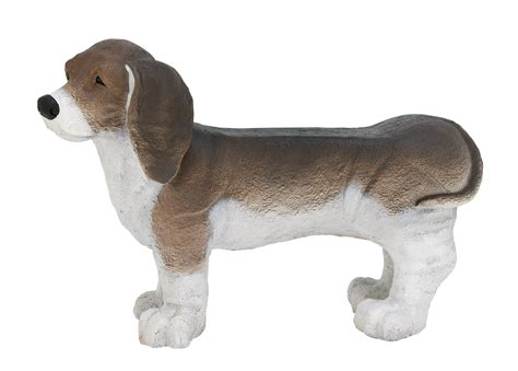 Bench Beagle by Decmode Eclectic 24 X 35 Inch Resin Beagle Bench