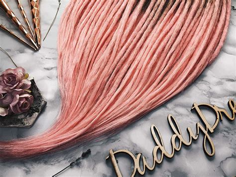Synthetic Crochet Dreads — Ombre Set — Pink Wine Ombre