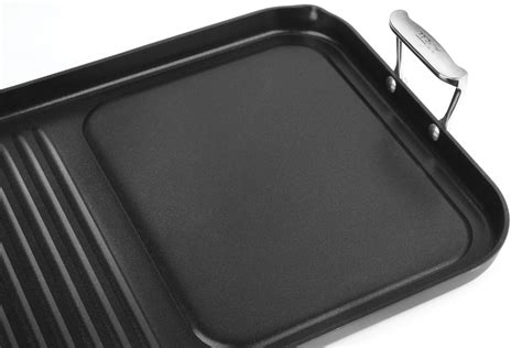 clad nonstick combo grill pan griddle  cutlery