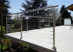 Cable Garde Corps : garde corps terrasse garde corps cable tendu balustrade ~ Voncanada.com Idées de Décoration