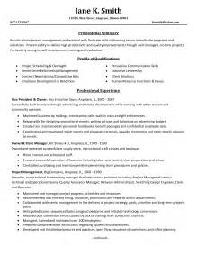 resume objective statement for construction management resume sle project management resume sles free project management resume bullets project