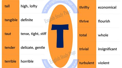 synonym word list archives page synonym words starting with t archives study page