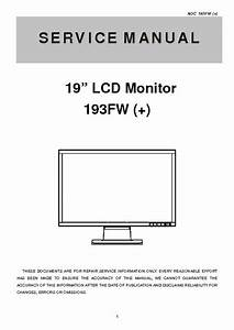 Aoc 193fw  Service Manual  Repair Schematics