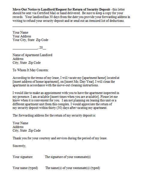 letter to landlord moving out 47 eviction notice templates sle letters free 8758