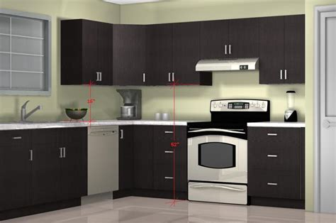 how high should kitchen cabinets be from countertop what is the optimal kitchen wall cabinet height