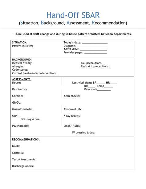 nursing shift handover template invitation templates