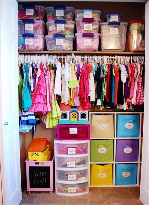 Kid Closet Organizer - organization inspiration ideas for efficient