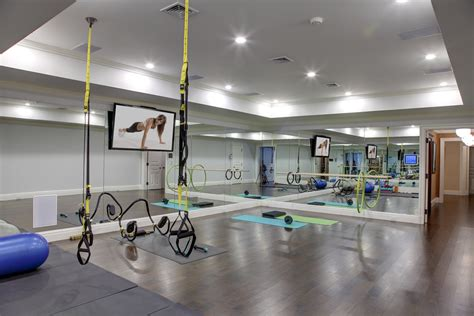 gym home gym traditional with medium hardwood built in