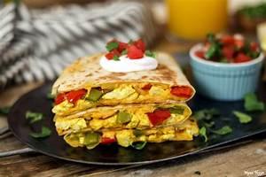 Hearty Vegan Breakfast Quesadilla | Vegan Huggs