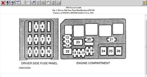 93 Corolla Fuse Box by 1993 Toyota Corolla Brake Light Switch