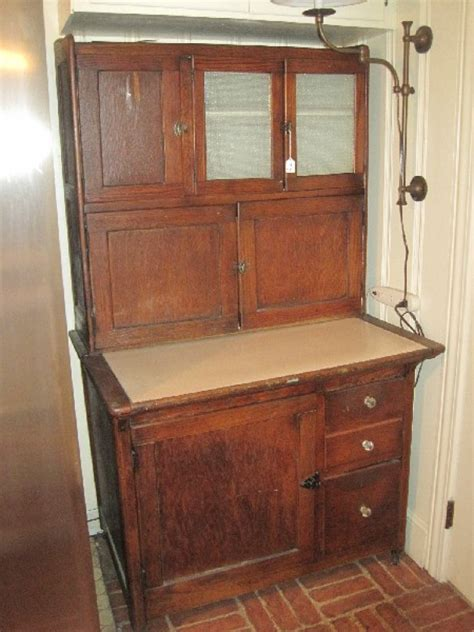 antique kitchen cabinet with flour bin antique oak hoosier kitchen cu auctions proxibid 9027